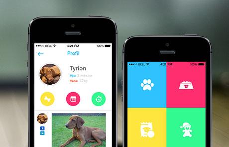Mobilní aplikace  pro psi