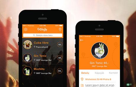 Mobilní aplikace Drinky Up